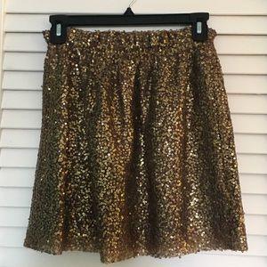J. Crew Gold Sequin skirt